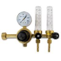 Reduktor do argonu i dwutlenku węgla DONMET RAr/CO-200-2 DM 2 rotametry